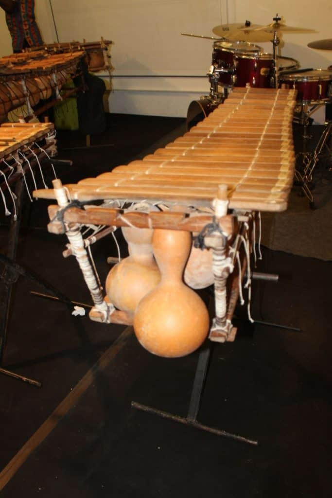 Gourd Xylophone, early inspiration for tone plate resonators on the marimba